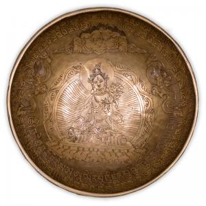 Campana tibetana Tara bianca - Dettaglio